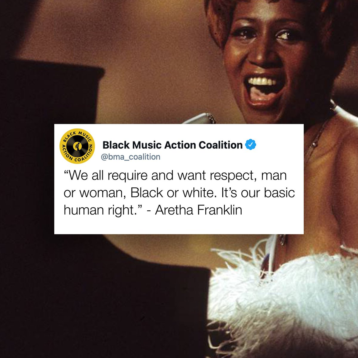 R.E.S.P.E.C.T 🔊🔊🔊🔊 #BlackArtistMatter #BlackMusicMatters #BlackLivesMatter #BMAC #AREATHA