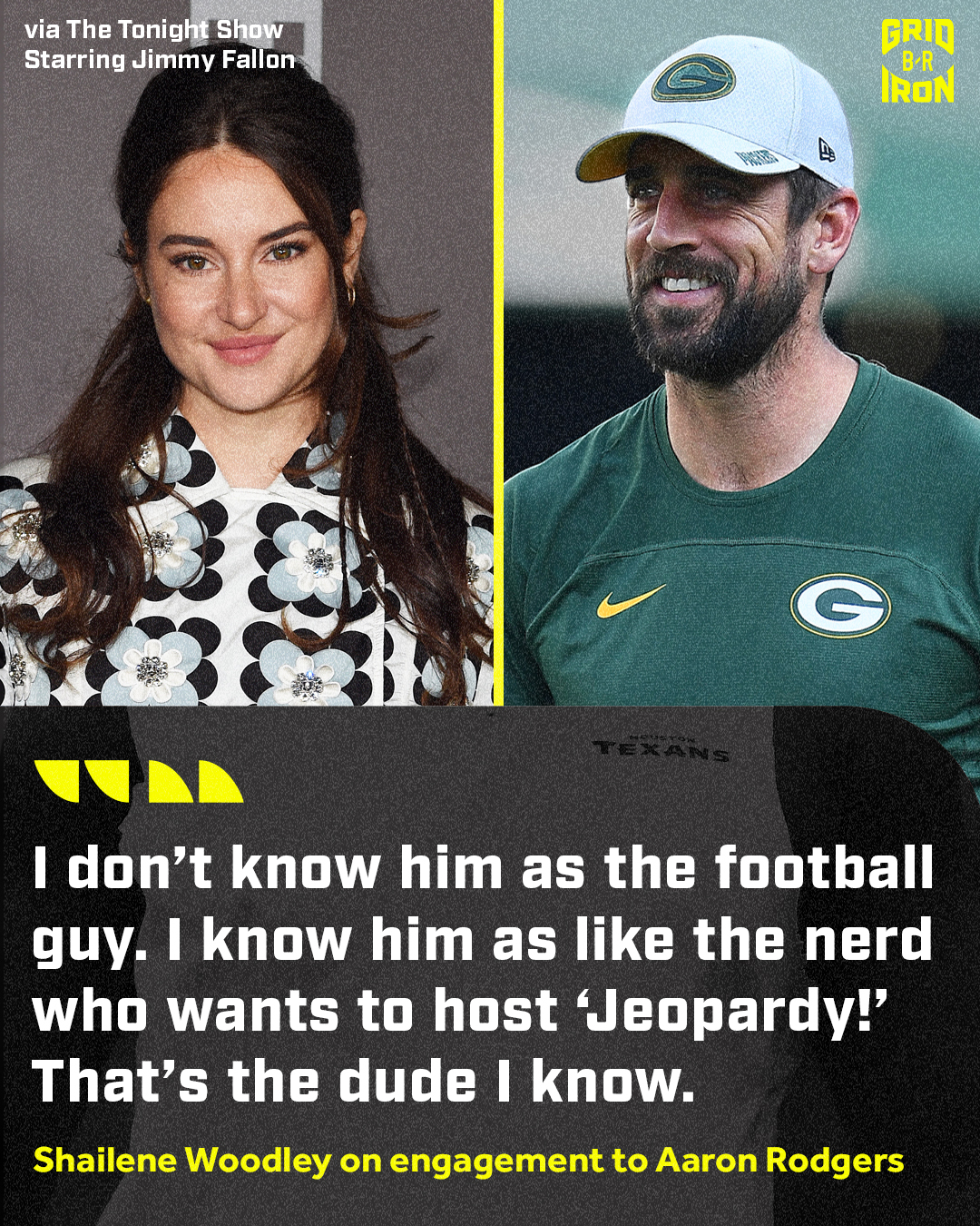 Shailene Woodley confirms that she and Aaron Rodgers are engaged Photo