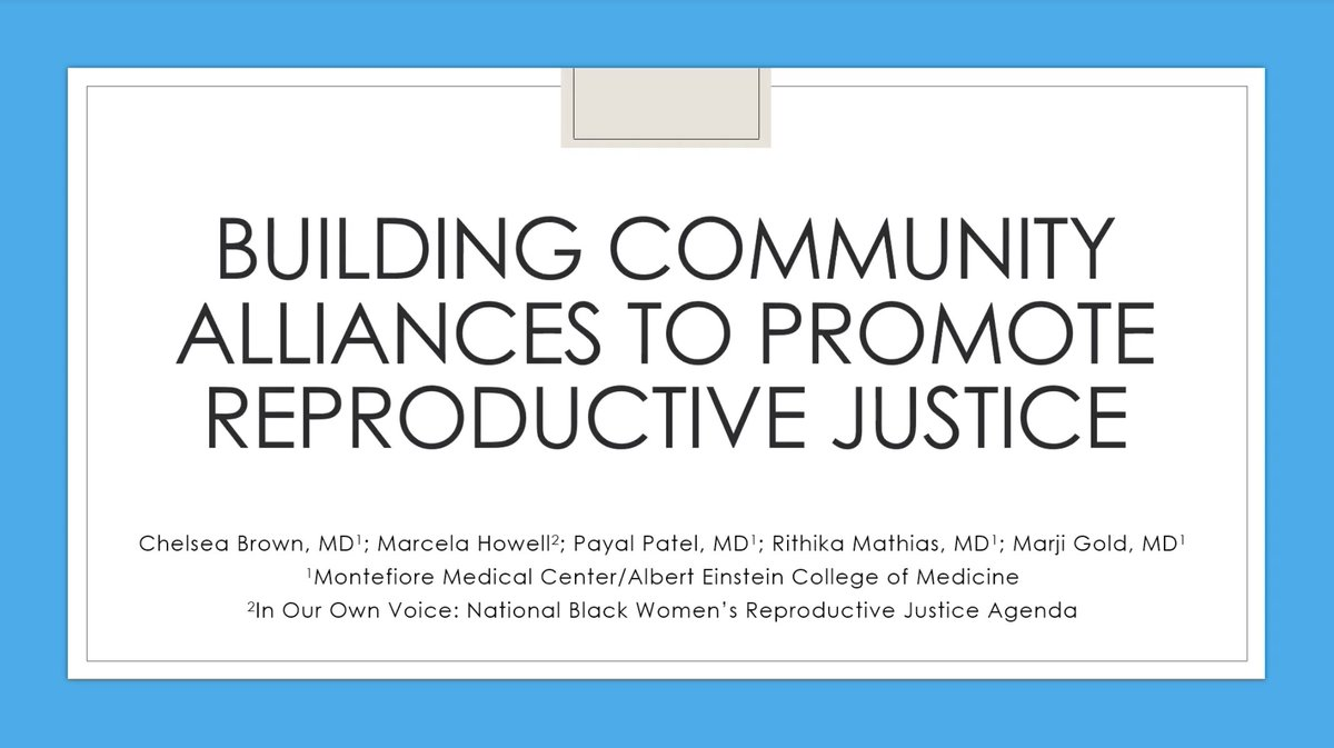 Founder and President Marcela Howell joins Montefiore Medical Center's Chelsea Brown and Payal Patel to discuss #ReproductiveJustice and how it can and should be applied by family medicine physicians:  #BlackRJ