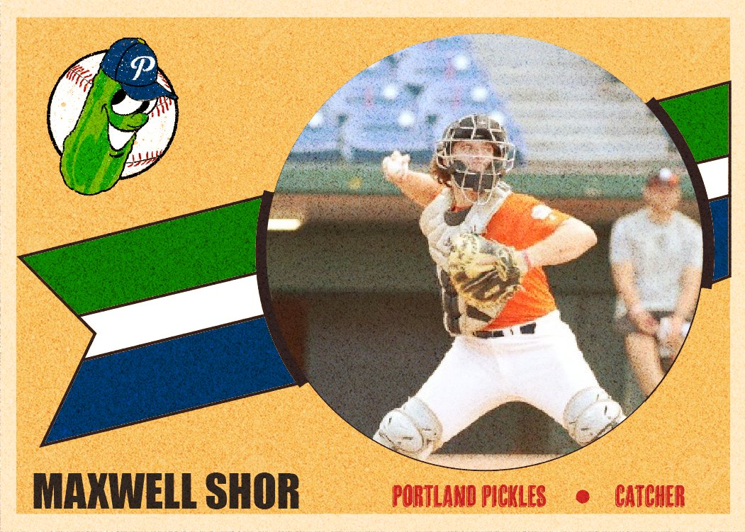Check out Max Shor's 2021 Pickles baseball card!