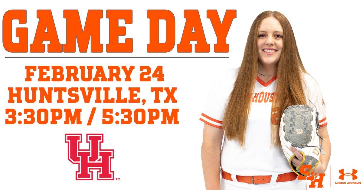 🥎 GAME DAY 🥎 Let's play 2!  #EatEmUpKats  🆚 Houston 🏟 Bearkat Softball Complex 🕰 3:30/5:30 pm 📹 G1  📹 G2  📊