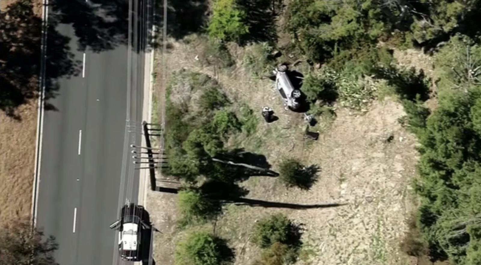 La imagen del accidente de Tiger Woods.