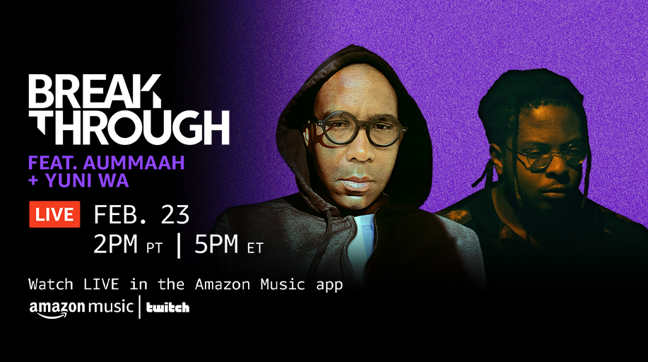 We heard Tuesdays at 2PM PT are ELECTRIC ⚡️ Join @aummaahhh and @yuniwaofficial on Breakthrough Live for all things electronic! Watch LIVE in the Amazon Music mobile app ➡️