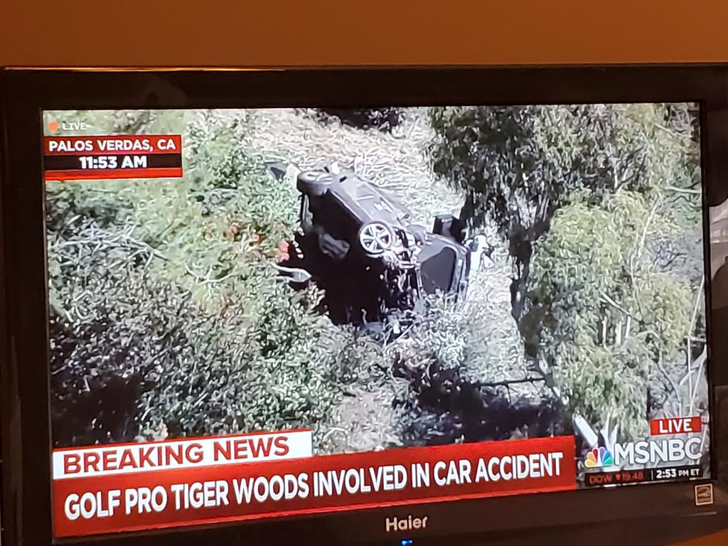 I hope #TigerWoods will be ok. The jaws of life had to be used. #golf #TigerHBO