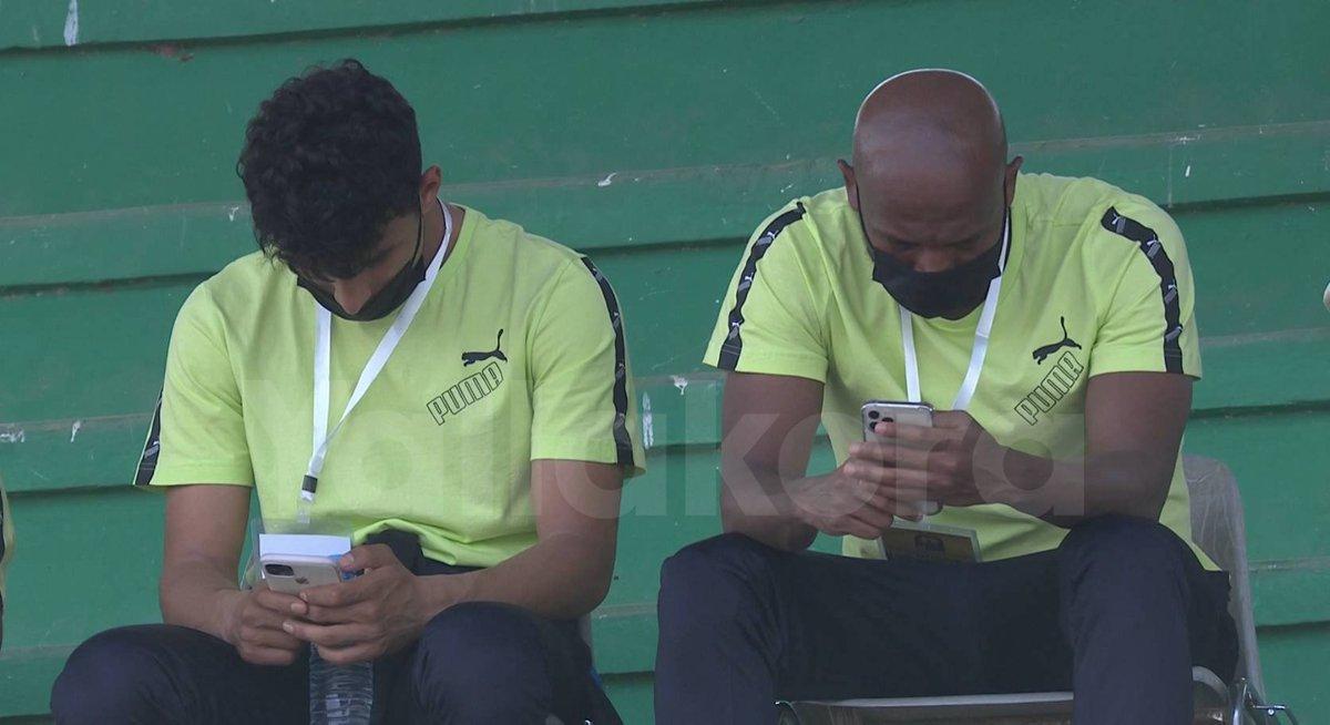 شيكابالا وأحمد عيد من ملعب المباراة ️