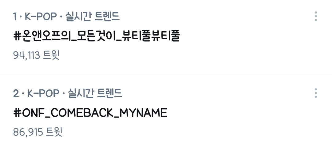 #ONF_COMEBACK_MYNAME Photo,#ONF_COMEBACK_MYNAME Twitter Trend : Most Popular Tweets