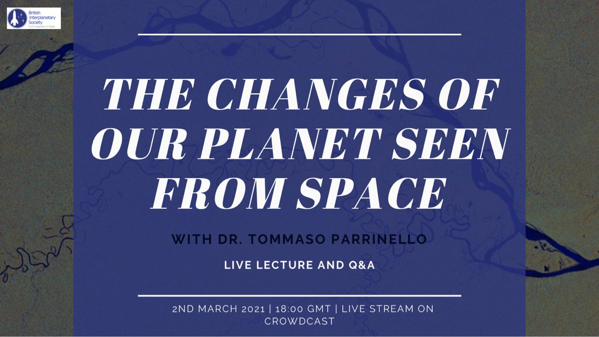 The next event in our series of LIVE lectures is next week (2/3/21) and will see @tparrine, Cryosat and Aeolus Mission Manager at @esa, discussing the #ESA's role in Earth monitoring from #space.  Register for FREE👉