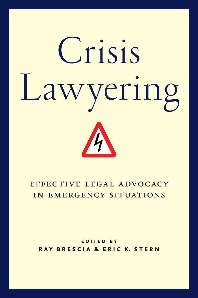 Crisis Lawyering is out today! With @SternEric and @BettingerLopez @azmy_b @Christy_E_Lopez @davidmccraw @SarahFRogerson @CarmenHuertas2 @missy_risser @muneer_ahmad @Jay_Sullivan62 tinyurl.com/372nelp7
