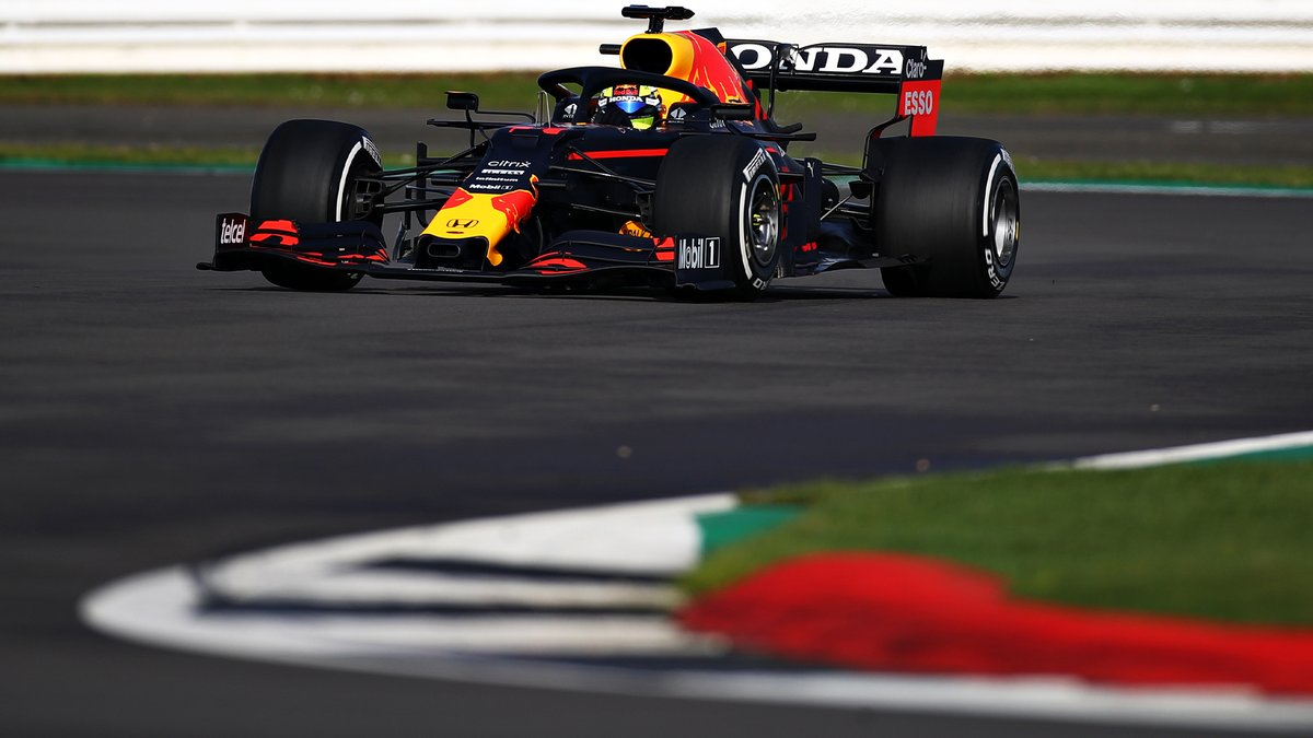 Sergio Perez out in the 2019 Red Bull at Silverstone today, in advance of him and Verstappen running the new car on Wednesday