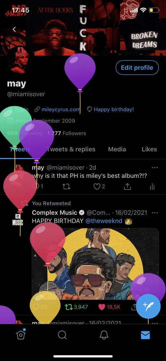 today's my birthday 🥺