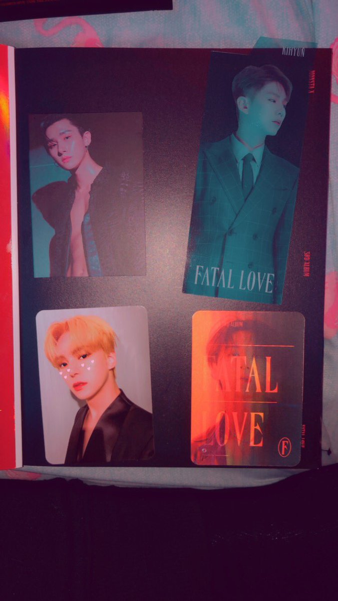 mY FATAL LOVE ALBUM CAMEEE I PULLED A MINHYUK PCCCC! #MONSTA_X #LoveKilla #MONSTAX_LOVEKILLA #MINHYUK