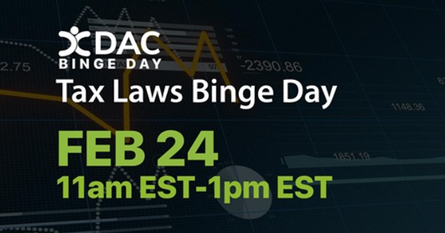 Tomorrow, @sandgrl7 @Maria_tringali, Hans Olson, and Jordan Lang will be presenting at @DACommunities Tax Law Binge Day. Join to learn how to navigate #salestax laws and get actionable insights for your business.https://t.co/dK6i3Wt86p https://t.co/ZNQprQI5DR