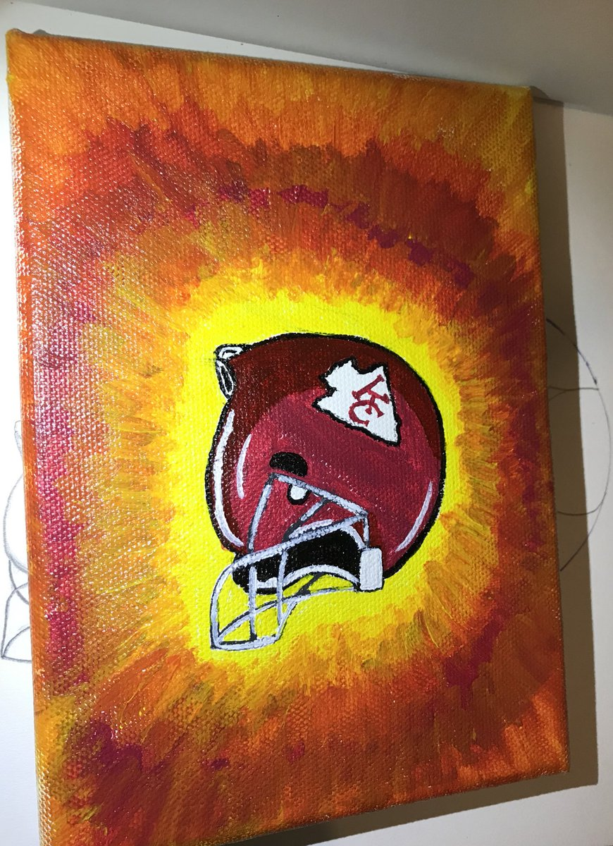 Painted this last night #kcchiefs
