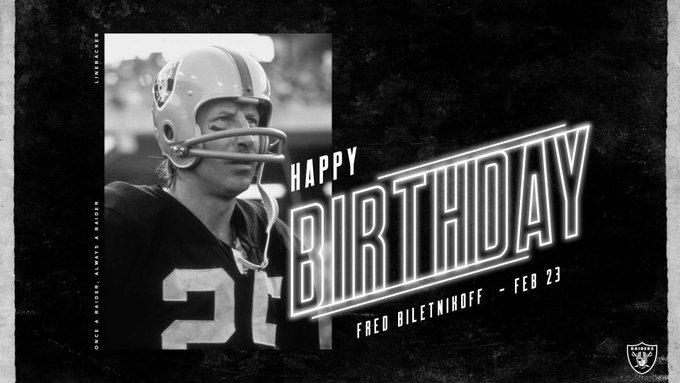 Happy birthday to Hall of Famer Fred Biletnikoff
