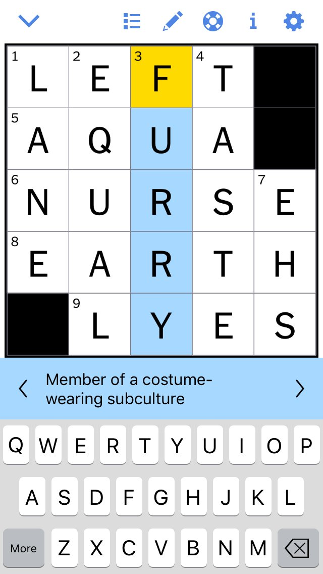 Was doing  One of the daily minis from the New York Times crossword puzzle app and to my surprise Furries were an answer to one of today's questions.   WE MADE IT EVERYONE! 😂😄  #furryfandom