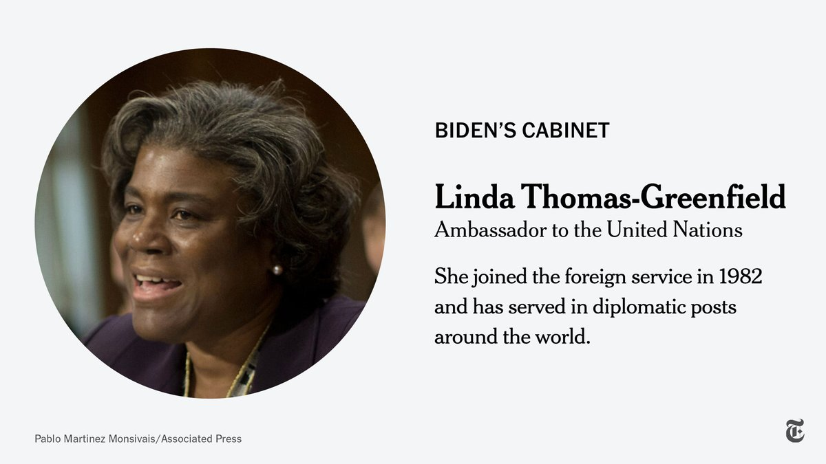 """Linda Thomas-Greenfield has been confirmed as the U.S. ambassador to the UN.  """"America is back,"""" she said when she was nominated in November, echoing one of President Biden's themes. """"Multilateralism is back. Diplomacy is back.""""  https://t.co/NYGvT30URh https://t.co/SzUVb2osYr"""