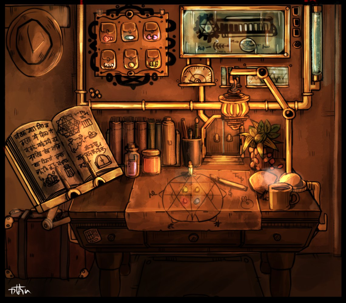 #かなちひ絵 #fantasyart #steampunk #illustration #drawing