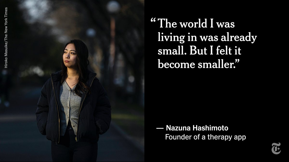 When the gym where Nazuna Hashimoto worked as a personal trainer suspended operations last year, her depression, which had been diagnosed earlier, spiraled.   After her own suicide attempt, she has tried to remove the stigma around mental health in Japan. https://t.co/DesQKBVoz1 https://t.co/0cXyqt8kRx