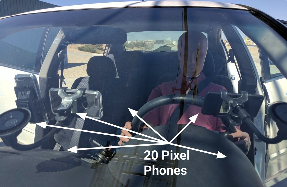 Google Pixel phones have an inbuilt car-crash detection system that will automatically call emergency services on your behalf if your are in an accident. Also, if you're wondering how we trained the ML models, I'll leave you with an image ;)