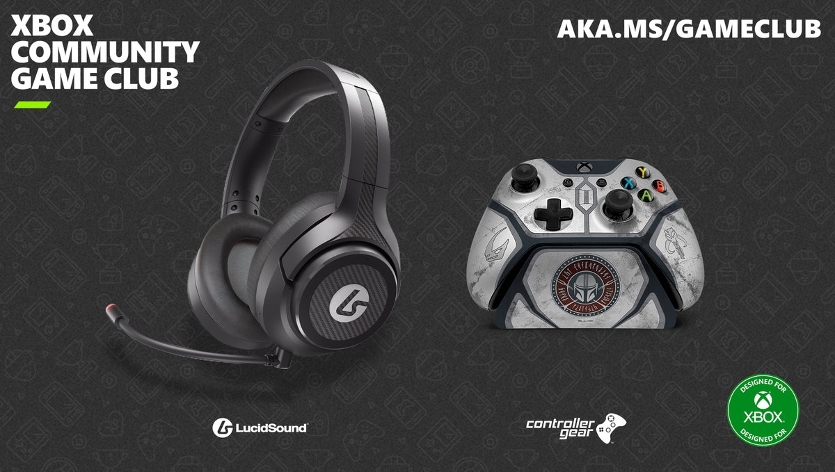 Join the Xbox Community Game Club and share/caption a screenshot or video clip from select titles with #XboxGameClub & #contest and you could walk away with a @LucidSoundAudio LS15X headset and @ControllerGear Mandalorian controller.   More details here: