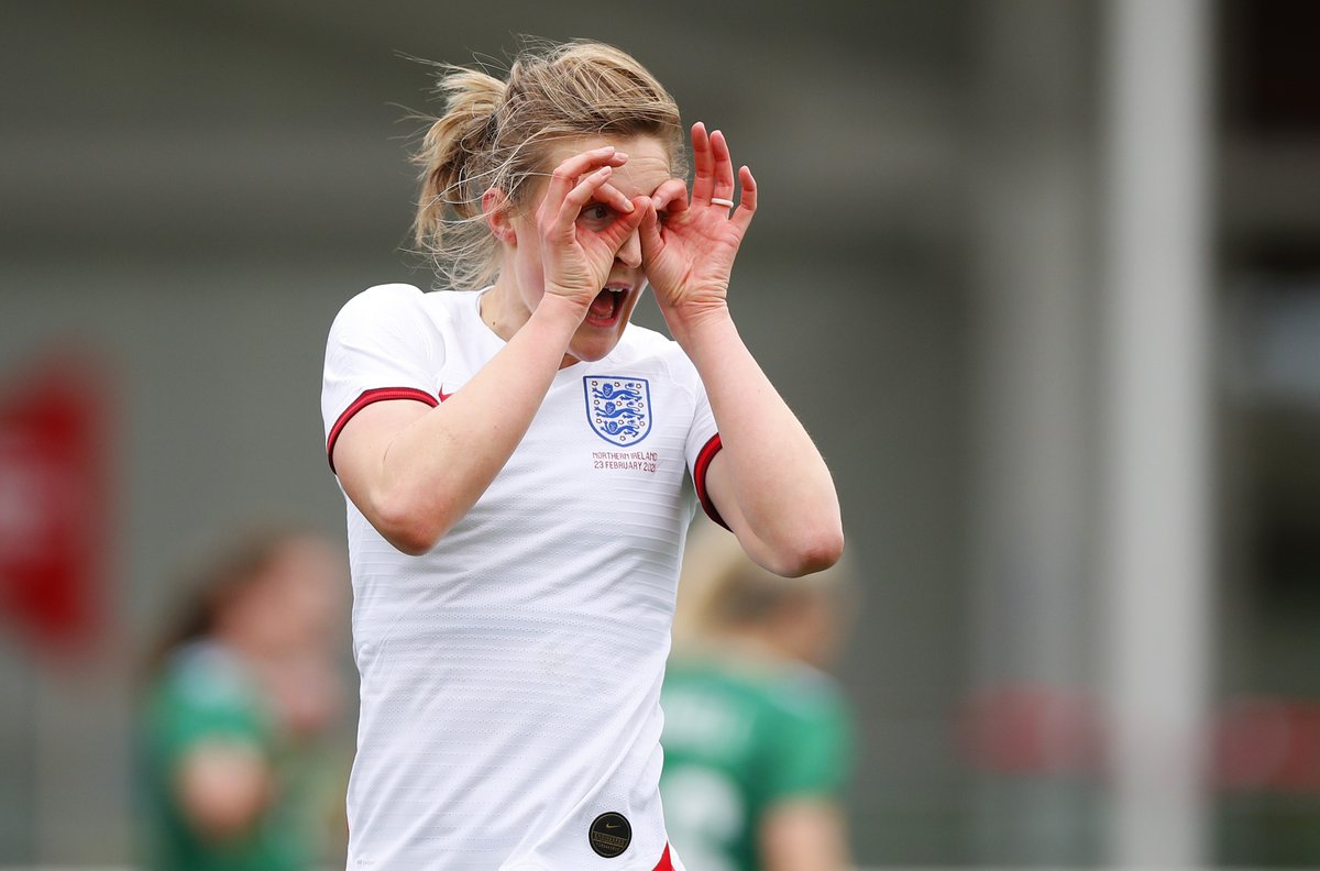 ⚽⚽⚽  🏴 A first senior @Lionesses hat-trick for @ellsbells89 today - can she get a #UWCL treble for @ManCity in the round of 16? 🔥