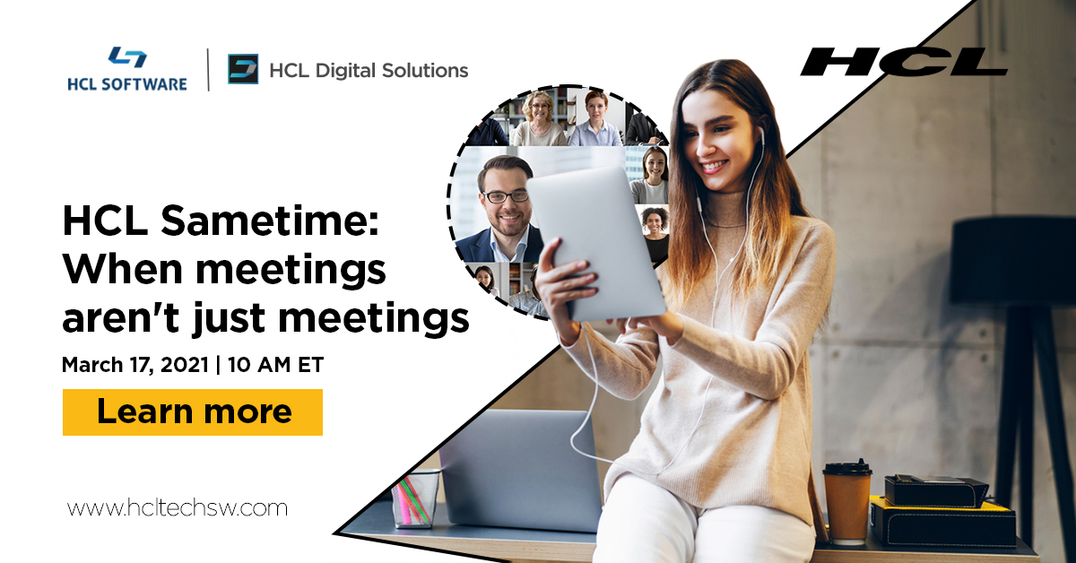 Don't struggle with high costs for your video meetings platform! Don't let your customer and corporate data security be compromised! #HCLSametime #100DaysOfCode #DevCommunity #datascience #codenewbie #30DaysOfCode #javascript #bot https://t.co/5tzEBqenuK