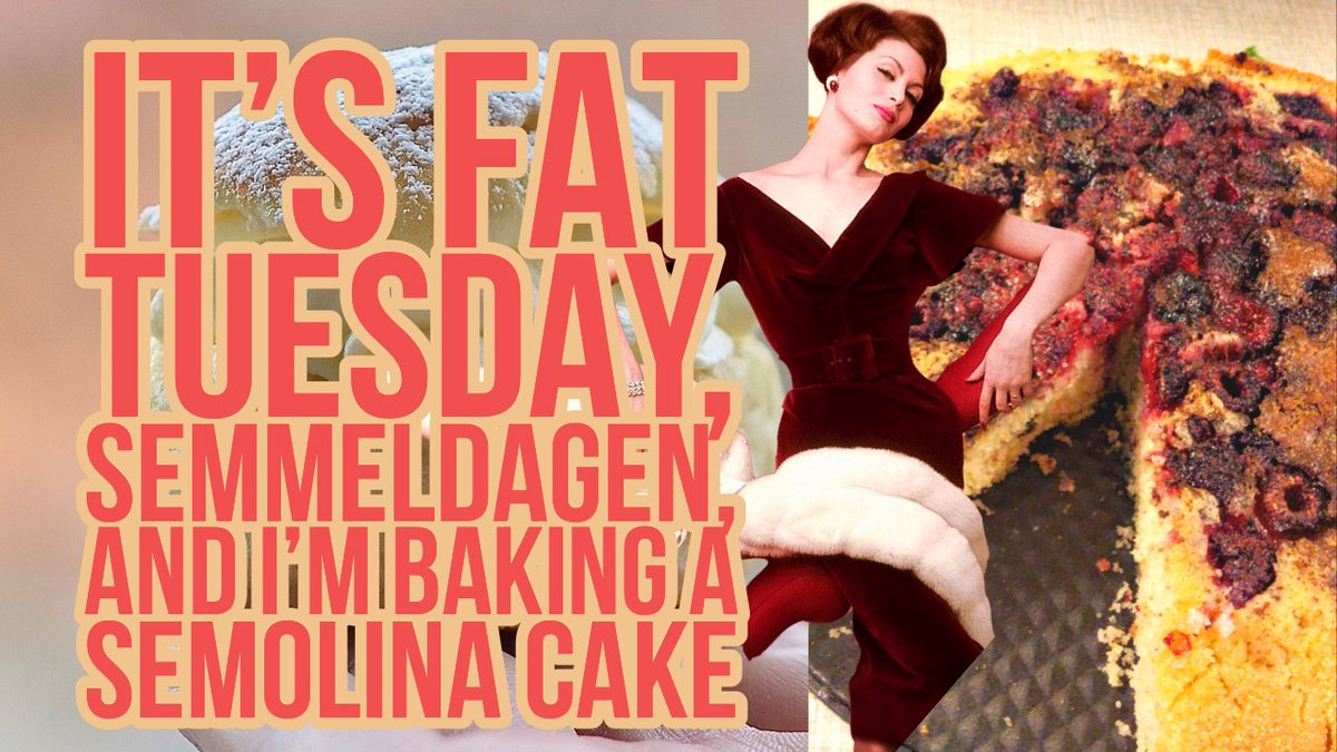 New episode up:   today's is Semmeldagen, Fat Tuesday, the official Semla day in Sweden. #semla #semmeldagen #fattuesday #semolinacake #vegancake #vegan #gay #chocolate #veganchocolate #recycle #clean #cleaning #cleankitchen #madlyricsmonday  #bakingfun