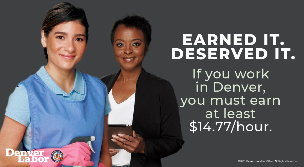 You earned it. You deserved it. People in Denver can take pride in their hard work and take action to protect their own rights and wages. The citywide minimum wage is $14.77 - learn more at   #MinimumWage #wages