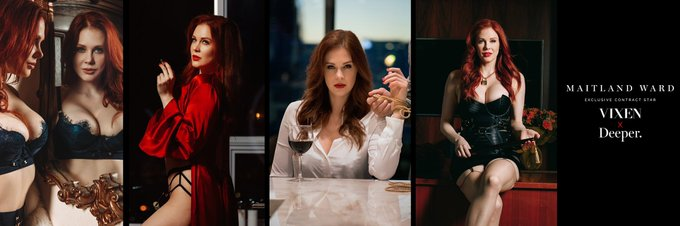 4 pic. THANK YOU Vixen for the beautiful new header options celebrating my new contract! 😍 I can't decide