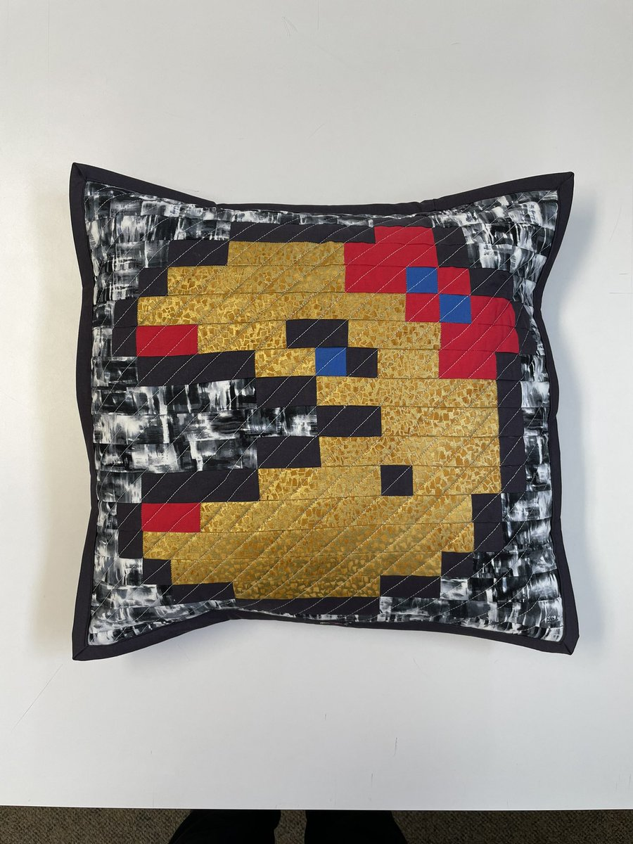 This batch is for all the retro gamers out there. Quilted throw pillows featuring some old friends.    I kind of felt like I was making their high school yearbook portraits when I was making them.    Etsy link -