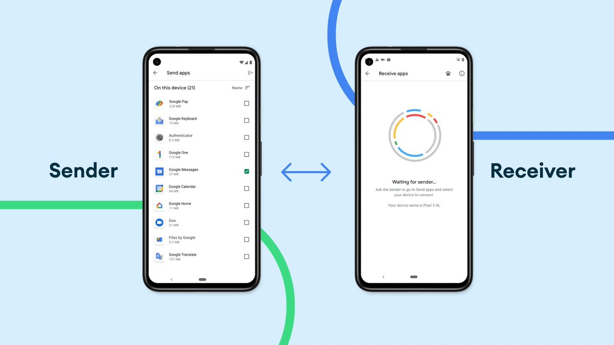 Gotta love that Android connection! 💓  With Nearby Share, you can send apps directly from Google Play to another Android, even without a cell or Wifi connection 🤯 Available worldwide on Android phones.