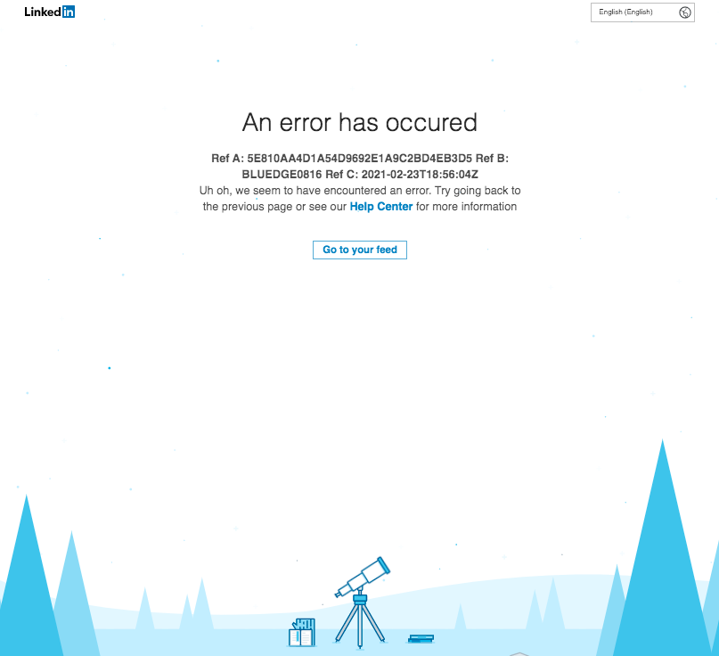 Replying to @prweekdiana: LinkedIn is down! If you listen closely, you can hear thought leaders around the world sobbing.