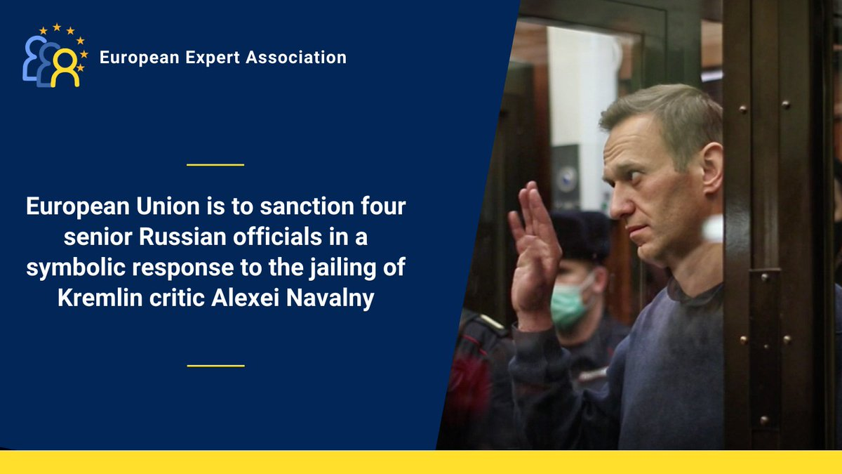 European Union foreign ministers agreed on Monday to impose sanctions on four senior Russian officials close to President Vladimir #Putin in a mainly symbolic response to the jailing of Kremlin critic Alexei #Navalny  https://t.co/wPfsfHjz7q https://t.co/J19bfiEypN