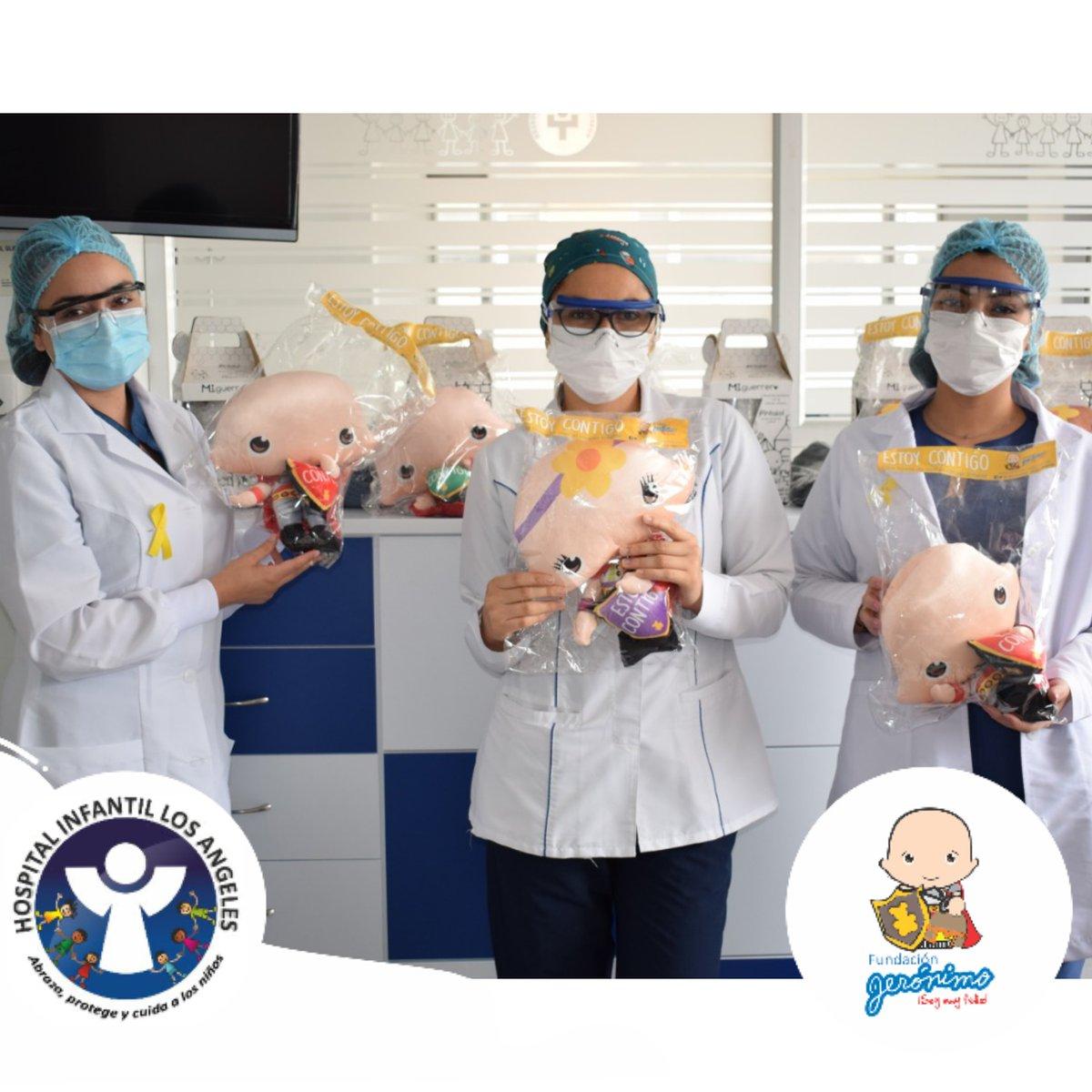 Nuestra #Rutafeliz desde el Hospital Infantil los Ángeles en la ciudad de Pasto. Elequipo de oncología pediátrica nos comparte un poco de la alegría entregada la semana pasada en la conmemoración del #diainternacionaldelcancerinfantil 🎗️