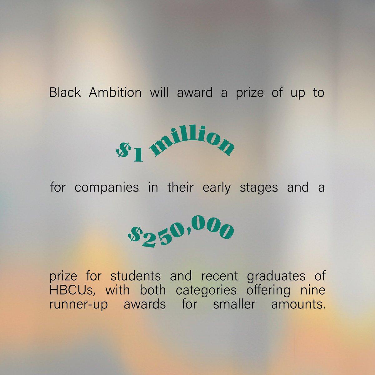 Pharrell's non-profit initiative, Black Ambition, aims to close the opportunity and wealth gap through entrepreneurship by investing capital and resources in high-growth startups founded by Black and Latinx entrepreneurs.