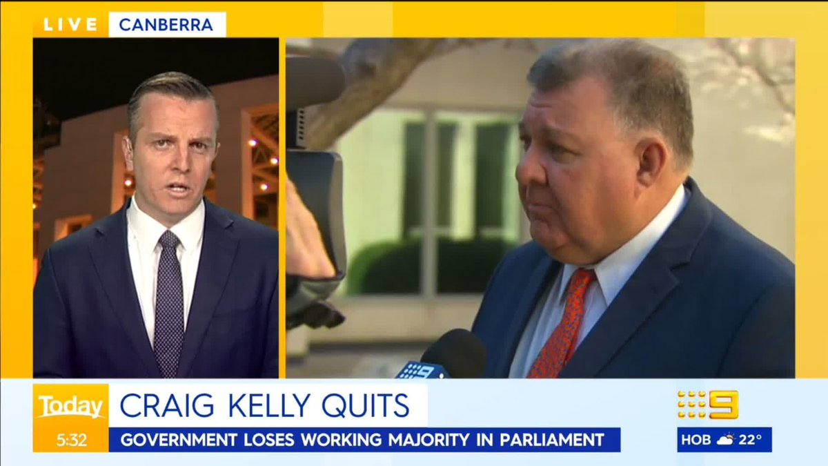 Craig Kelly has quit the Liberal Party to sit on the crossbench. 9News