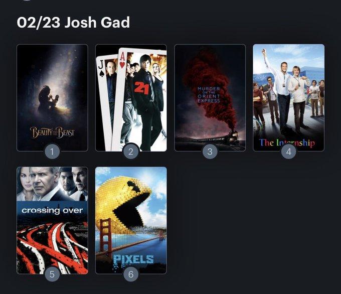 Hoy cumple años Josh Gad (40) Happy birthday ! Aquí mi Ranking: