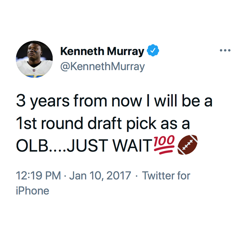 you called it tho, @KennethMurray