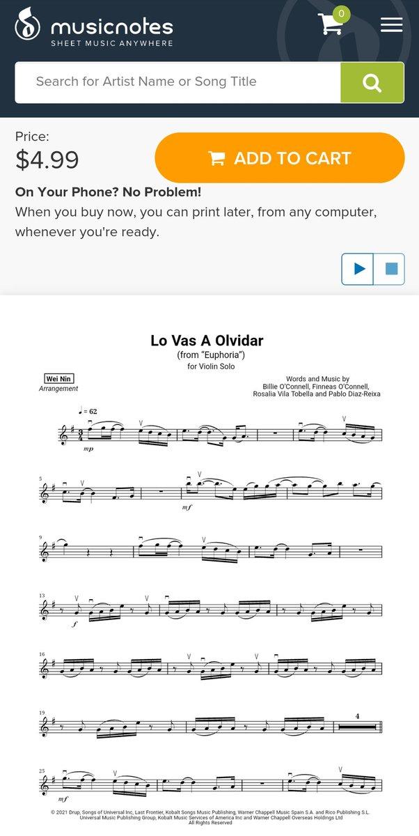 @billieeilish  , Rosalía - Lo Vas A Olvidar @musicnotes ➡  @YouTube ➡  #BillieEilish #ROSALÍA #LoVasAOlvidar #sheetmusic #musicnotes #youtube