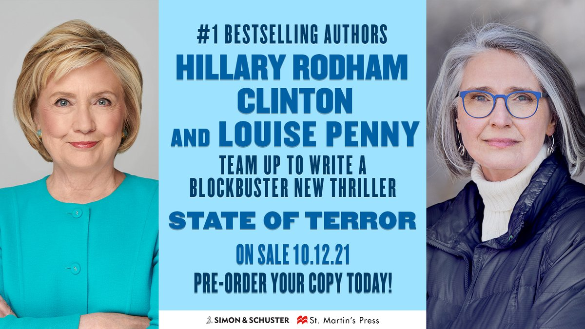 I'm thrilled to be writing my first book of fiction with Louise Penny, one of my favorite authors and a dear friend. Get ready for some high-stakes diplomacy and treachery.