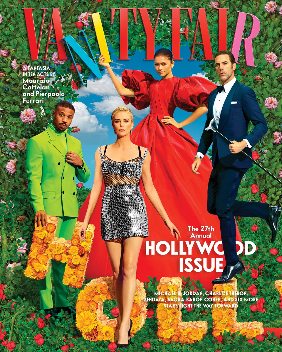 Very lucky to be amongst these absolutely brilliant people on this very special 27th Vanity Fair Hollywood Issue. Thank you @vanityfair Maurizio Cattelan and Pierpaolo Ferrari ✨
