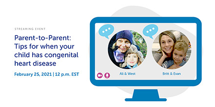 Is your child just starting out on their journey with congenital heart disease (#CHD)? Join two of our heart moms, Ali and Britt, as they answer parents' most commonly asked questions. Register for the #webinar here: