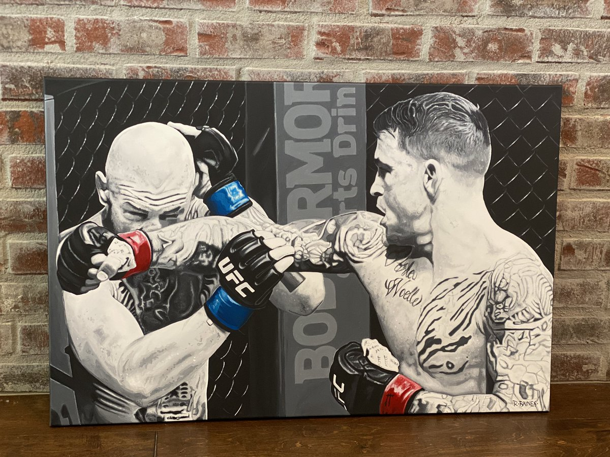 Another great piece from an historic fight by the insanely talented @RossBainesArt 🔥🔥 thank you so much!