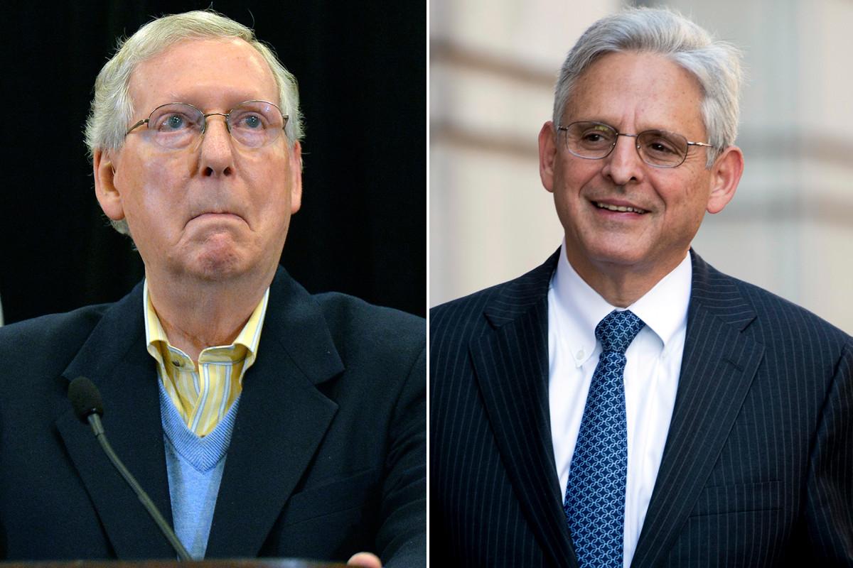 Mitch McConnell backs Biden pick Merrick Garland for attorney general
