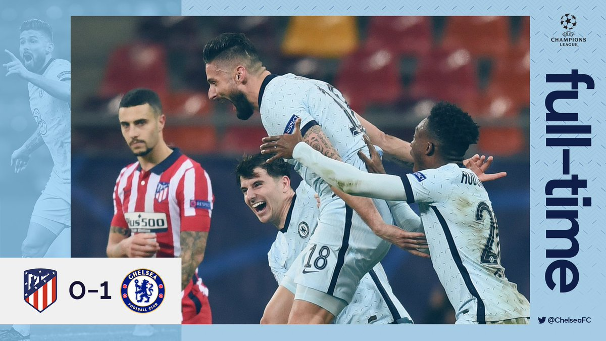 𝐁𝐈𝐆 result in Bucharest! 🙌  It ends 1-0, great performance Blues! 💙  #ATMCHE
