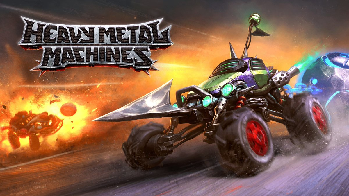 Enter the post-apocalyptic world of deadly vehicles and epic battles!  Heavy Metal Machines from Hoplon Infotainment out now on #Xbox   ➡️