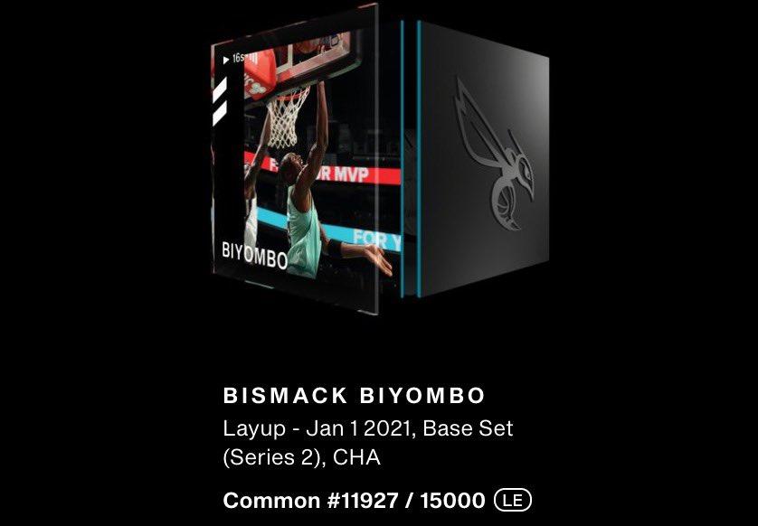 🚨🏀Giving away an @nba_topshot Bismack Biyombo Base Set (Series 2) Layup #11927/15000! Retweet + follow to enter. Picking a winner Friday at 5pm PST! #NBATopShot