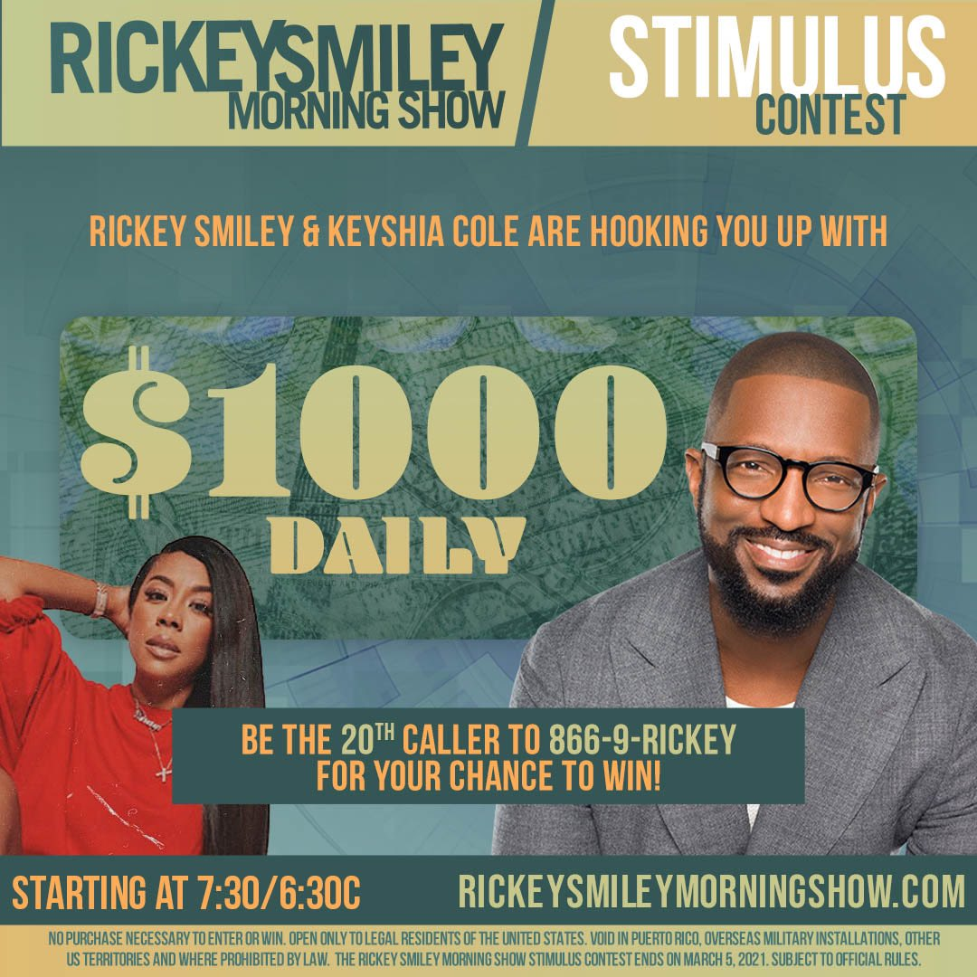 Replying to @Z927WDZZ: Listen to the Rickey Smiley Morning Show on Z92.7 for your chance to win $1,000! #Z927 #WDZZ #RSMS