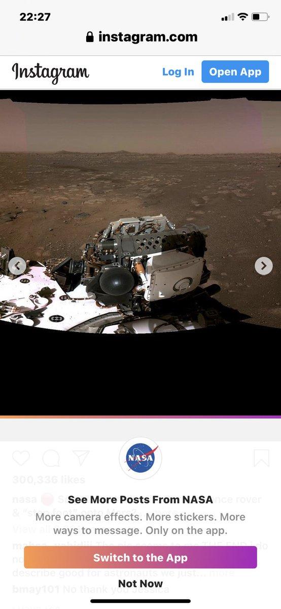 @NASA @NASAPersevere @NatGeo @instagram Wow!!!
