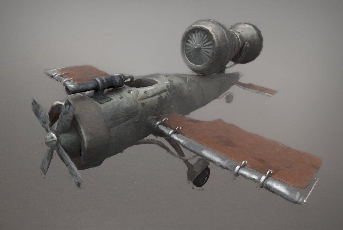 I made an airplane.... neeeerrrrrrowwwwwwww.......... pbbbbbt! #airplane #3DModel #3dmodeling #skypunk #steampunk